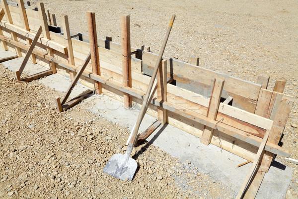 építkezés fából készült űrlap munka beton ásó Stock fotó © simazoran