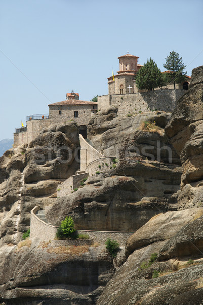 Kolostor szent nagyszerű Görögország hegy templom Stock fotó © simazoran