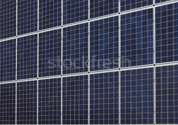 Solar energy panels at wall or roof Stock photo © simazoran