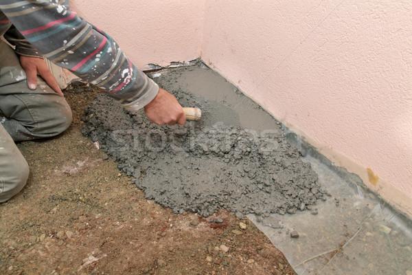 Stock photo: Home renovation, concrete
