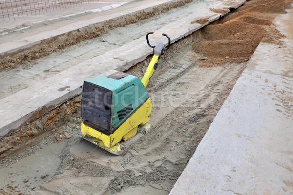Benzina diesel piatto sabbia la costruzione di strade Foto d'archivio © simazoran