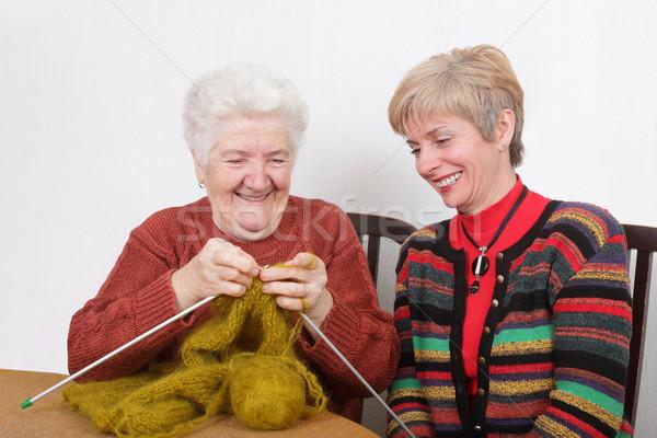 Iki nesiller kıdemli olgun gülme Stok fotoğraf © simazoran
