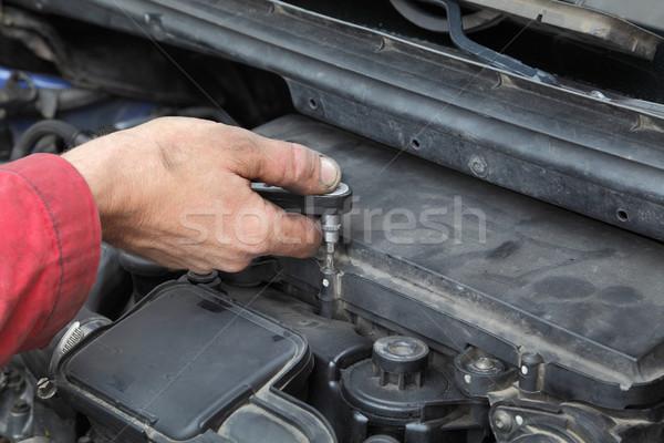 Autóipari autó levegő szűrő megjavít borító Stock fotó © simazoran