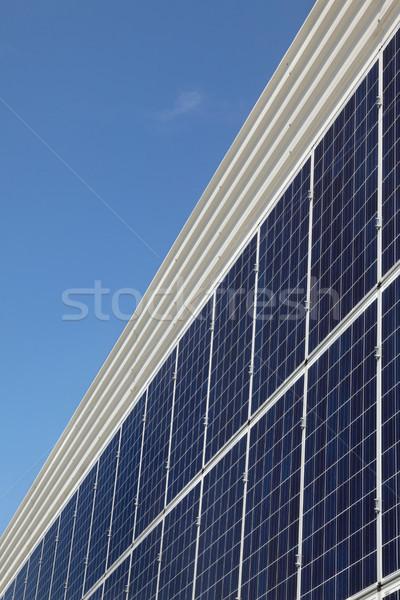 太陽エネルギー 太陽光発電 代替案 電気 ソース 家 ストックフォト © simazoran