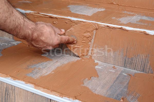 Construction site, tiles Stock photo © simazoran