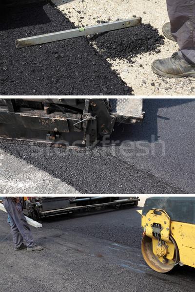 Asfalt yol yapımı yol Bina Stok fotoğraf © simazoran