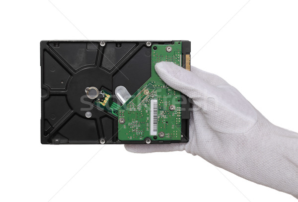 Hard disc in hand Stock photo © simazoran