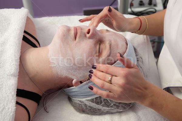 Jeunes Homme visage traitement de la peau Photo stock © simazoran