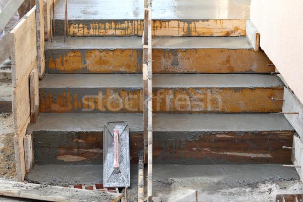 Staircase making at construction site Stock photo © simazoran