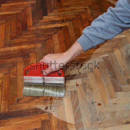 Home renovation parquet Stock photo © simazoran