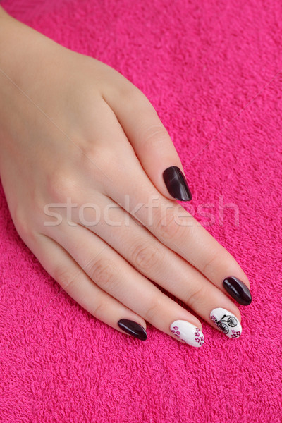 Fingernägel Hand Handtuch Finger Nagel Stock foto © simazoran