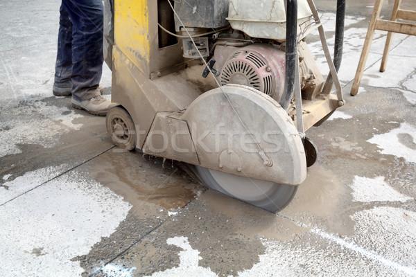 építkezés aszfalt beton vág fűrész penge Stock fotó © simazoran
