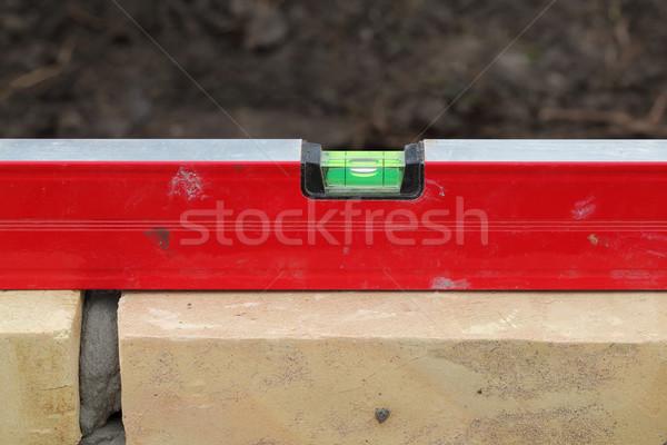 Level control of brick wall Stock photo © simazoran