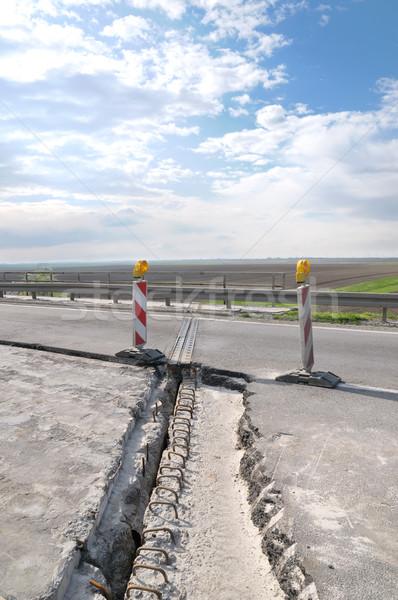 Strada ricostruzione asfalto preparato cielo Foto d'archivio © simazoran