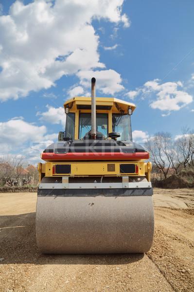 Wegenbouw weg werken plaats Servië bouw Stockfoto © simazoran