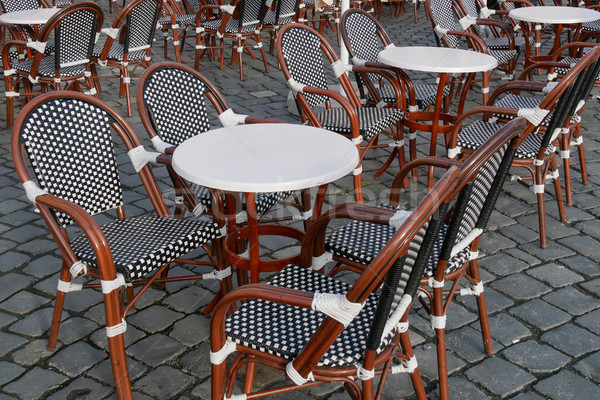 Street cafe, chairs and tables Stock photo © simazoran