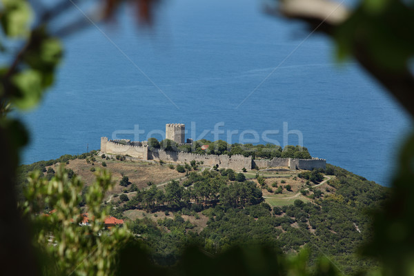 Old castle in Platamon or Platamonas Greece Stock photo © simazoran
