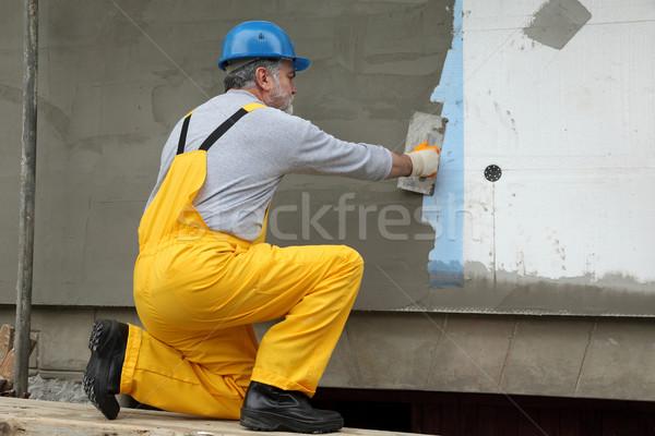 Duvar yalıtım işçi ev el Stok fotoğraf © simazoran