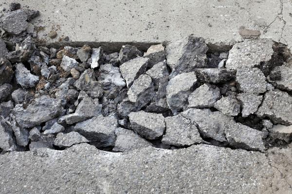 Asphalt demolishing, heap of broken asphalt Stock photo © simazoran