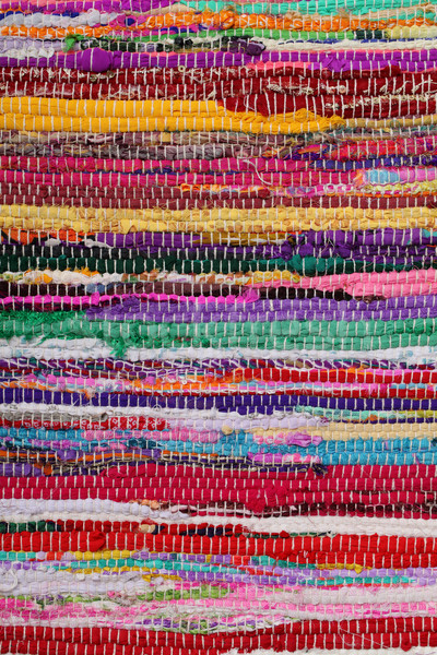 Recycling, handmade colorful ethnic retro rug Stock photo © simazoran