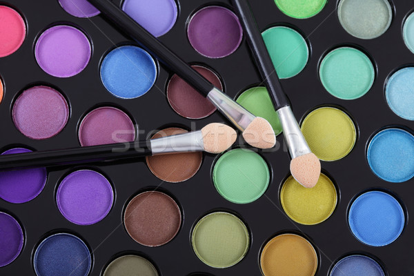 Szempilla smink színes szem árnyékok paletta Stock fotó © simazoran