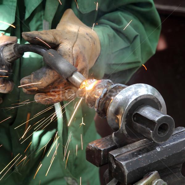Lassen foto boog staal hand Stockfoto © simazoran