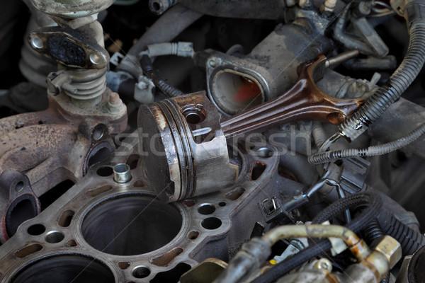 Auto motore pistone vecchio tecnologia industriali Foto d'archivio © simazoran