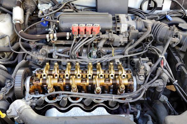 Gép közelkép gázolaj autó három szelep Stock fotó © simazoran