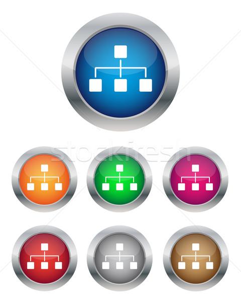 Rede botões coleção cores computador Foto stock © simo988