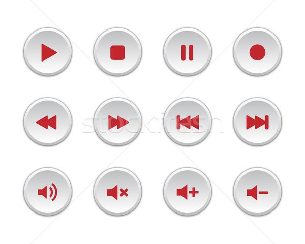 Mídia jogador botões coleção internet projeto Foto stock © simo988