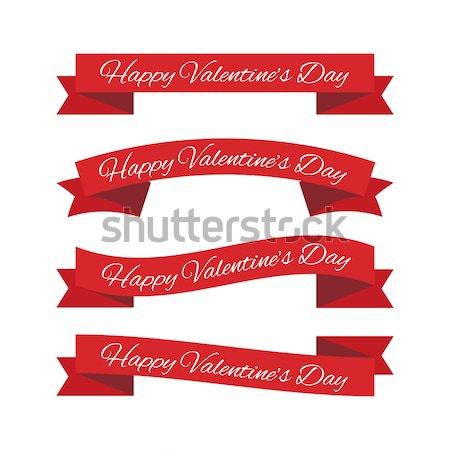 Valentijnsdag ingesteld papier liefde ontwerp Stockfoto © simo988