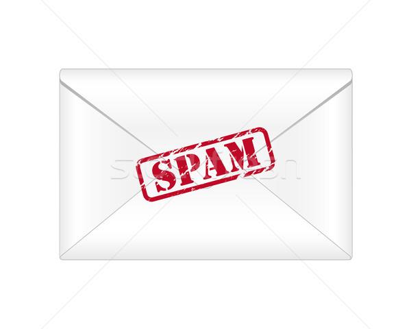 Spam e-mail witte computer ontwerp teken Stockfoto © simo988