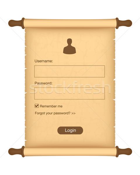 Photo stock: S'identifier · forme · parchemin · rouler · papier · cadre