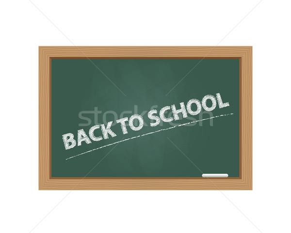 Schoolbord terug naar school tekst ontwerp ruimte schilderij Stockfoto © simo988
