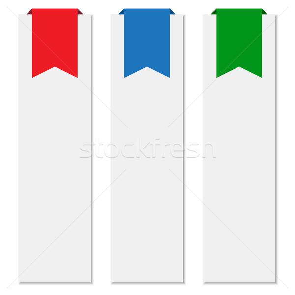 Banners kleurrijk ingesteld business papier Stockfoto © simo988