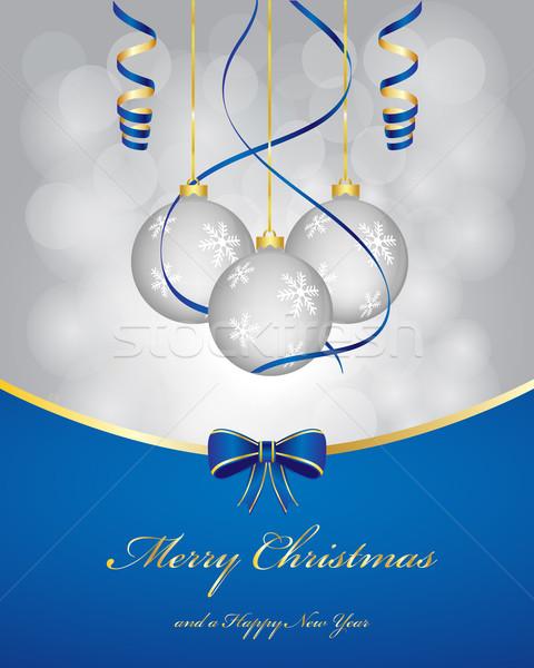 Natale luce inverno blu Foto d'archivio © simo988