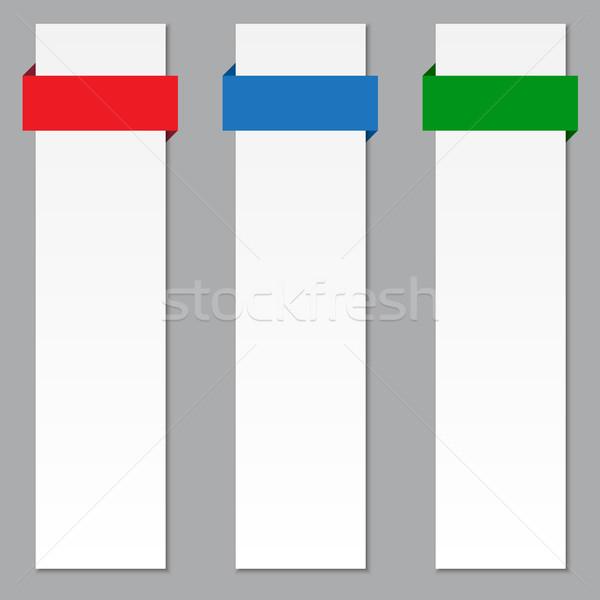 Banner farbenreich Bänder Set Business Papier Stock foto © simo988