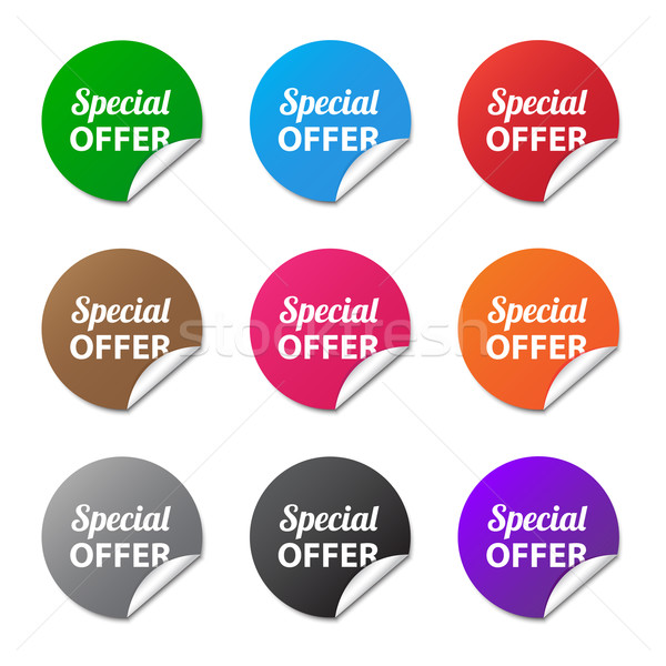 Special offer stickers Stock photo © simo988