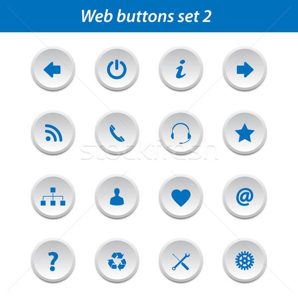 Internetowych przyciski zestaw kolekcja Internetu technologii Zdjęcia stock © simo988