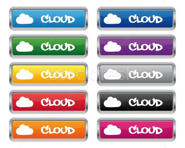 Nube metallico rettangolare pulsanti colori Foto d'archivio © simo988