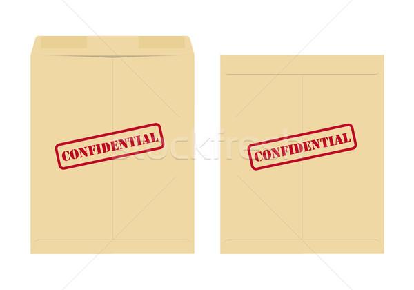 конфиденциальный конверт два один открытых закрыто Сток-фото © simo988