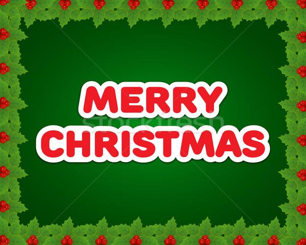 Karácsonyi üdvözlet fa természet terv háttér keret Stock fotó © simo988