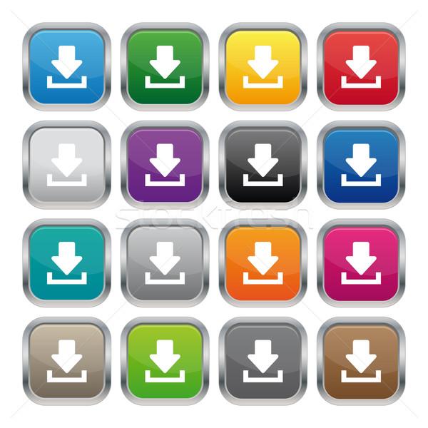 Download metallic Platz Tasten unterschiedlich Farben Stock foto © simo988
