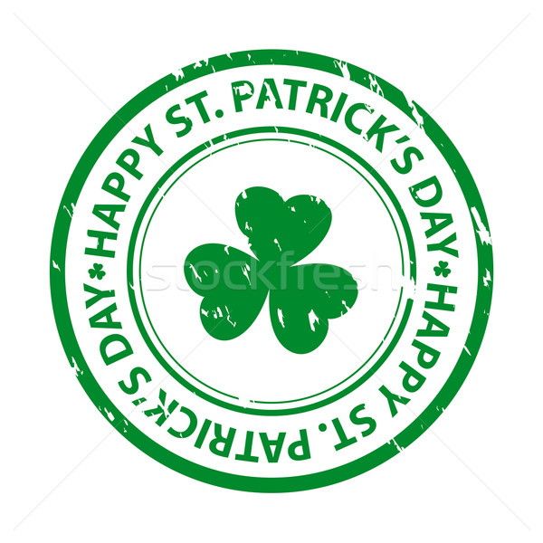 St. patrick's day rubber stamp Stock photo © simo988