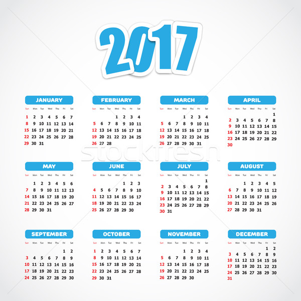 Calendar 2017 Stock photo © simo988