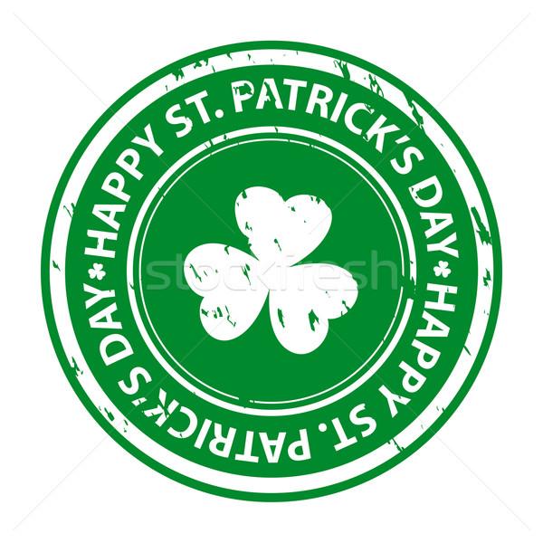 St Patrick's Day Shamrock achtergrond kunst klaver Stockfoto © simo988