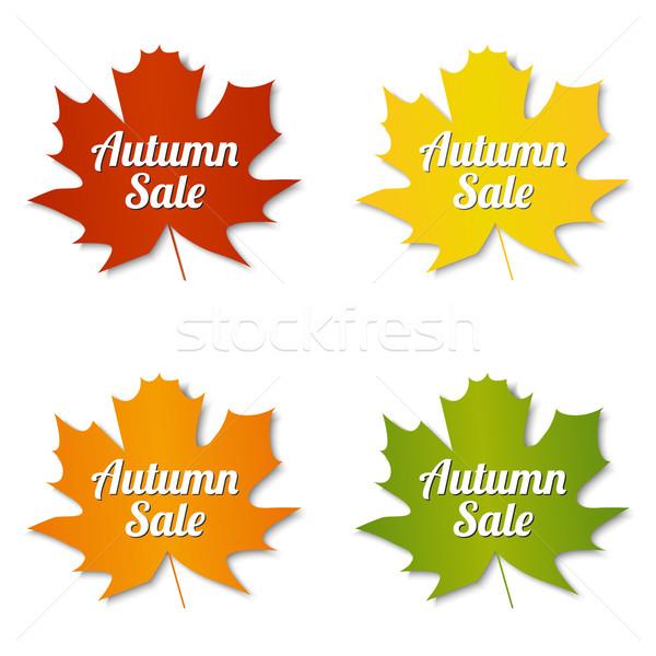 秋 販売 ラベル セット 紙 自然 ストックフォト © simo988
