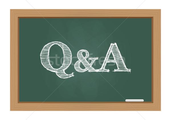 Vragen antwoorden schoolbord teken sleutel helpen Stockfoto © simo988