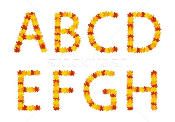 Alfabet brieven textuur natuur blad Stockfoto © simo988