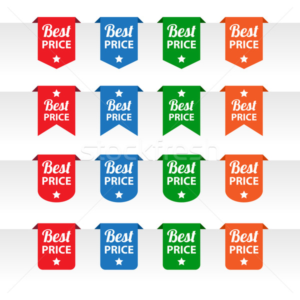 Best price paper tag labels Stock photo © simo988
